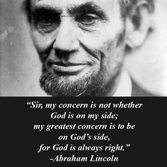 Lincoln with quote